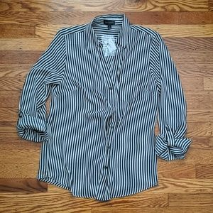 NWT The Limited Striped Blouse Small